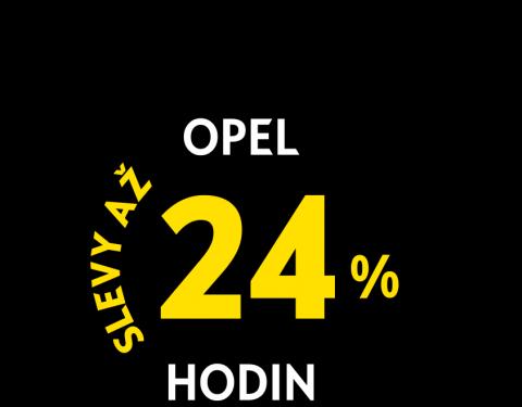 Opel 24 hodin se slevami až 24% jen 12. - 13.4.2019