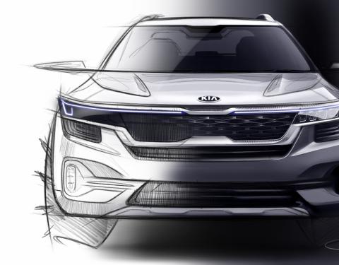 Kia odhaluje první skicu nového SUV pro generaci mileniálů
