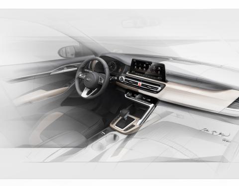 Sofistikované pojetí interiéru zbrusu nového malého SUV