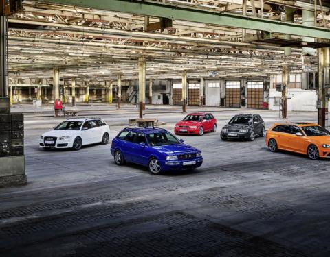 Audi Sport slaví 25 let modelů Audi RS