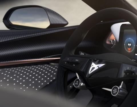 CUPRA odhaluje interiér koncepčního elektromobilu