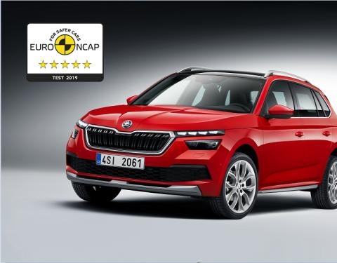 ŠKODA KAMIQ získala v testu Euro NCAP maximální hodnocení