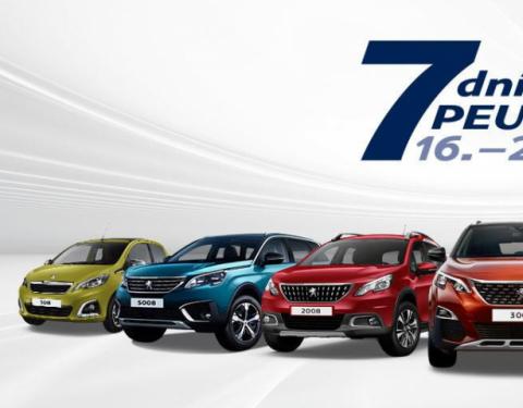 Akce 7 dní Peugeot slibuje skvělé výbavy za skvělé ceny