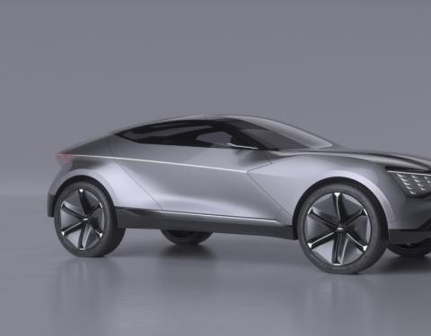 Kia odhaluje průkopnické SUV- kupé s elektrickým pohonem