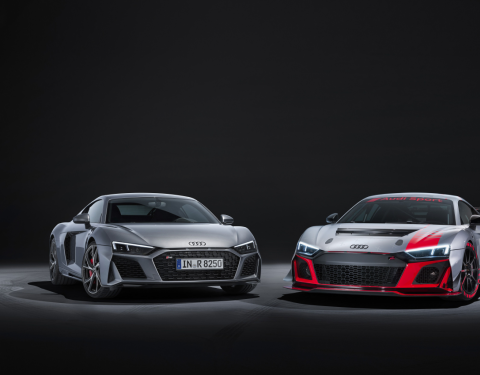 Audi R8 V10 RWD a Audi R8 LMS GT4
