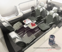 Nový VW Multivan – stolek jako multifunkční součást interiéru