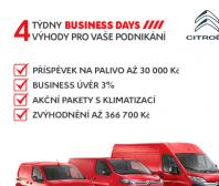 Jedinečná nabídka pro profesionály - Citroën BUSINESS DAYS