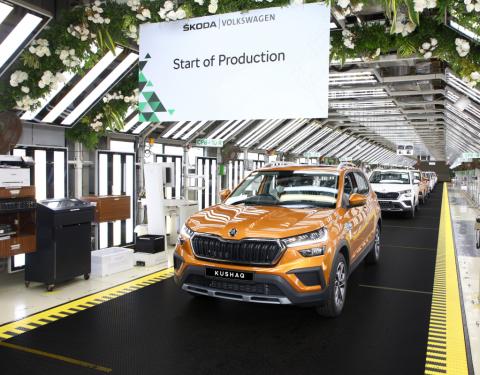 Zahájení sériové výroby nového SUV ŠKODA KUSHAQ