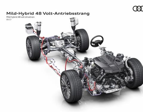Výhled na nové Audi A8 - vyšším napětím k nižší spotřebě paliva