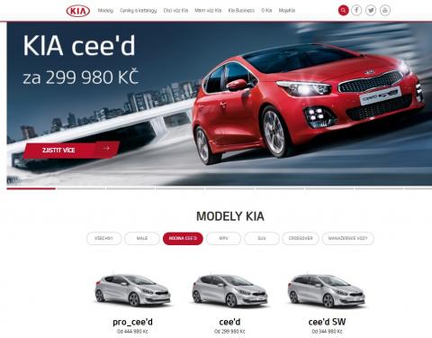 KIA je mezi TOP 3 automobilkami s nejnavštěvovanějším webem v České republice