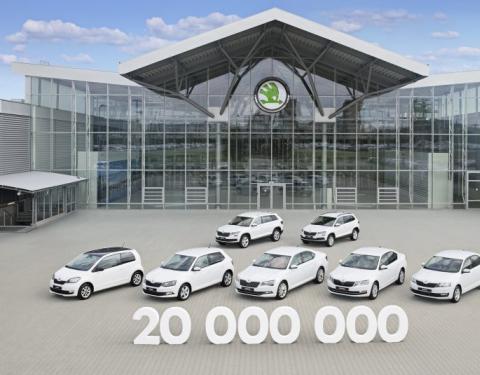ŠKODA AUTO dosáhla milníku: 20 milionů vyrobených automobilů