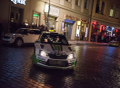 Zákazníci taxi mohli v pražských ulicích vyzkoušet jízdu závodním speciálem ŠKODA FABIA R5 pilotovaným českým šampiónem