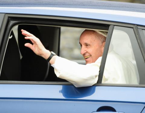 ŠKODA RAPID SPACEBACK ve službách papeže Františka během návštěvy Irska
