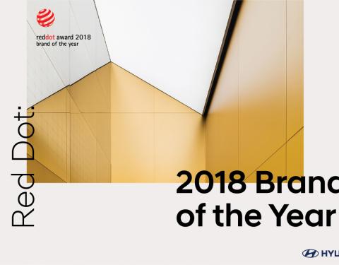 Hyundai získal titul Red Dot: Značka roku 2018