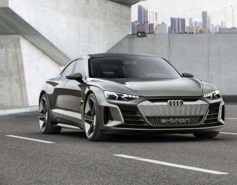 Audi e-tron GT concept v Los Angeles